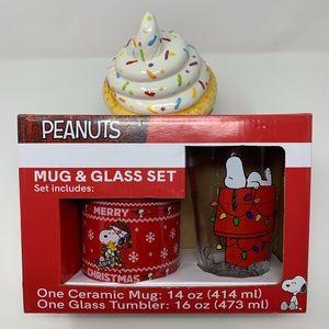 PEANUTS Snoopy 2pc Mug and Glass set
